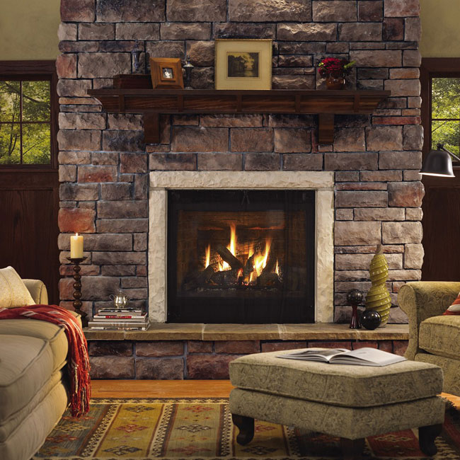 Fireplace material utility block company inc for Fireplace material options